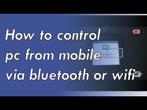 How to control pc from mobile via bluetooth or wifi