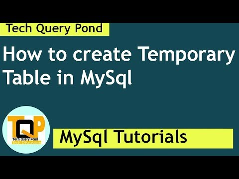 How to create Temporary Table in MySql