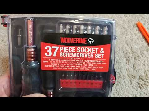 Wolverine 37 Piece Socket & Screwdriver Set: Unboxing and Quick Review