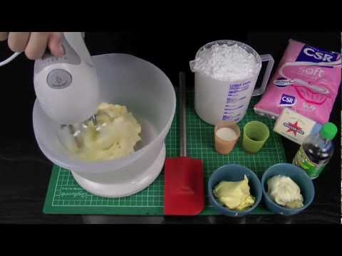 Make Perfectly Pipeable Butter Cream Frosting - A Cupcake Addiction How To Tutorial