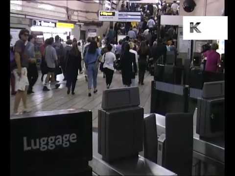1990s Kings Cross Tube Station London