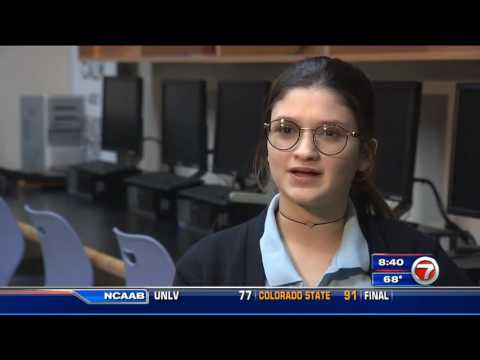 WSVN Report on Simple Sign by CompSci Student Vicky Rios