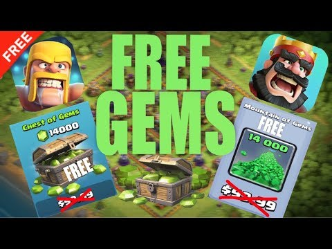 HOW TO GET FREE GEMS IN CLASH OF CLANS AND CLASH ROYALE | UNLIMITED | FASTEST METHOD