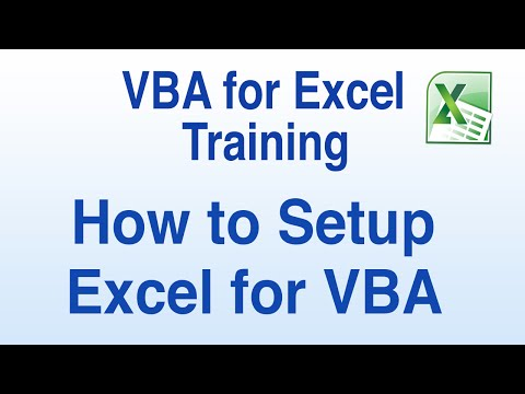 VBA for Excel Tutorial - How to Setup Excel for VBA and Record a Macro