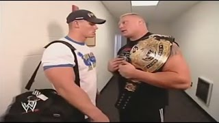Brock Lesnar Speaks To John Cena Backstage WWE SmackDown 30 October 2003