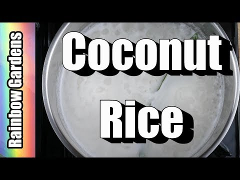 Delicious Coconut Rice (so good with fish!) AND How to Store Ginger