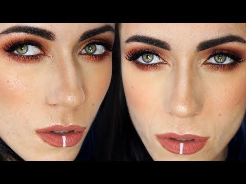 Red Copper Makeup Tutorial For Green Eyes | MakeupAndArtFreak