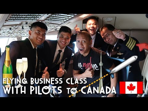 Flying Business Class with Pilots to Canada | Vlog #258
