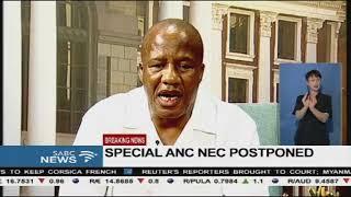 Postponment of ANC NEC meeting and SONA - Jackson Mthembu