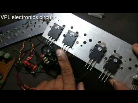 How to change in 2sc5200 transistor to 2N3055 in hindi