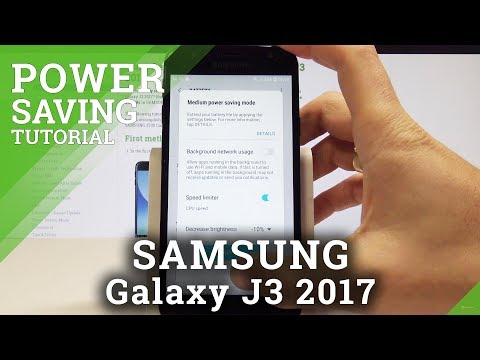 How to Turn On Power Saving Mode on SAMSUNG Galaxy J3 2017 - Extend Battery Life