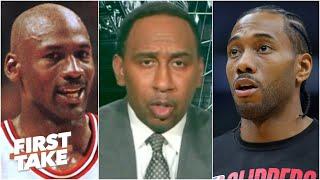 Stephen A. compares Kawhi Leonard to Michael Jordan | First Take
