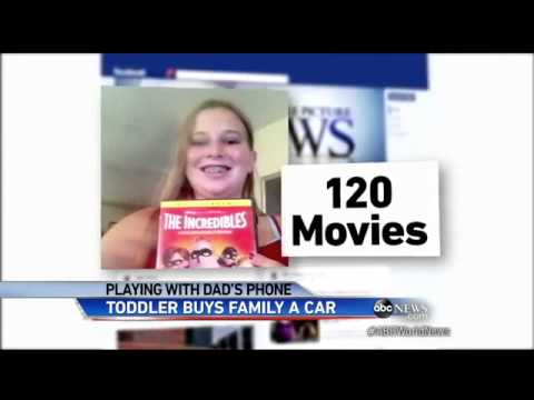 Toddler Buys Car Off eBay Using Parents' Smartphone