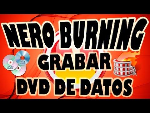 Grabar DVD de Datos con Nero Burning