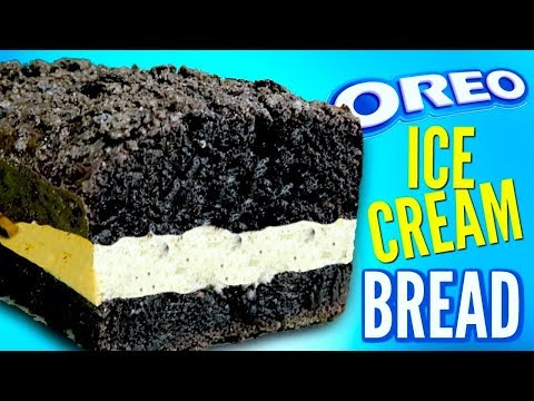 OREO BREAD - How To Turn Ice Cream Into Cookie Bread DIY
