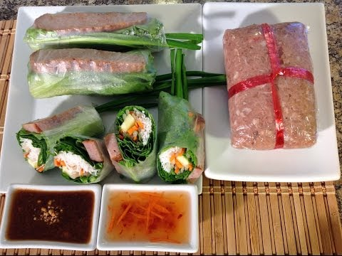 Spring Rolls With Grilled Pork-Nem Nuong Cuon-Vietnamese Food Recipes