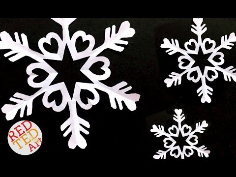 Easy Paper Snowflake DIY - Easy Kirigami DIY - How to make a paper snowflake craft
