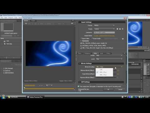 Adobe Encore - Step 1a - Exporting For Encore.avi