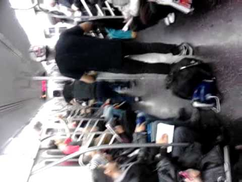 Getting lite on e train queens nyc