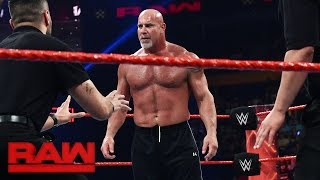 Goldberg and Brock Lesnar meet face-to-face before Survivor Series: Raw, Nov. 14, 2016