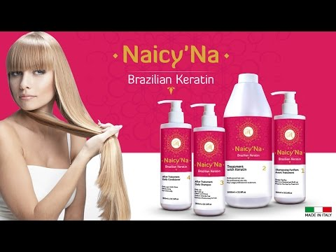 How to make keratin hair treatment at home with Naicy'Na Brazilian Keratin !!! کراتین برزیلی نایسینا