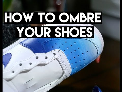 Quick DIY |  How To Ombre & Gradient Your Leather Shoes With Angelus Acrylic Paint