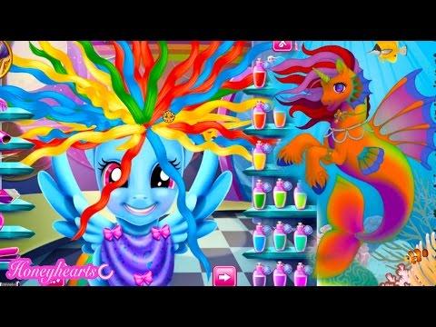Rainbow Dash Hair Style Create A Mermaid Pony Let S Play Online Games