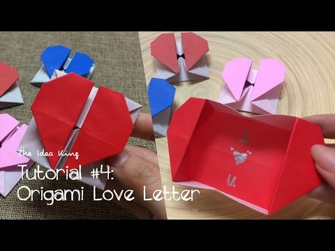 How to Make Origami Love Letter Step by Step? | The Idea King Tutorial #4
