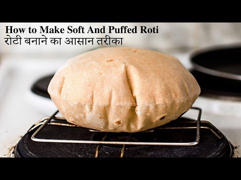 How to Make Soft and Puffed Roti step by step | Phulka, Chapati Recipe on both gas stove and Tawa