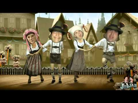 Oktoberfest Haus Staff Dancing to Bavarian Polka
