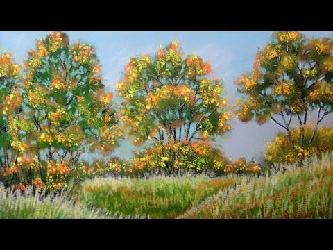 How to paint autumn landscape with Pastel - Fall Color (Pastel Painting)