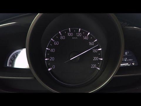 2017 Mazda2 SKYACTIV G-75 0-100 kmh kph 0-60 mph Tachovideo Beschleunigung Acceleration