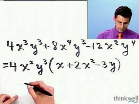 Factoring Using the Greatest Common Factor from Thinkwell College Algebra