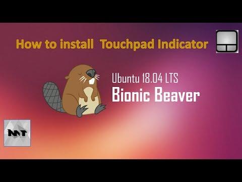 How to install Touchpad Indicator on Ubuntu 18.04
