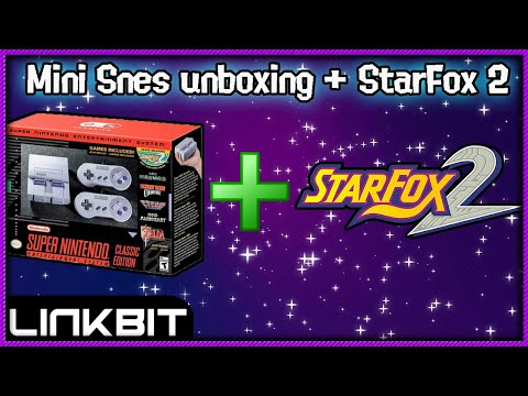 MINI SUPER NINTENDO UNBOXING+STARFOX 2!