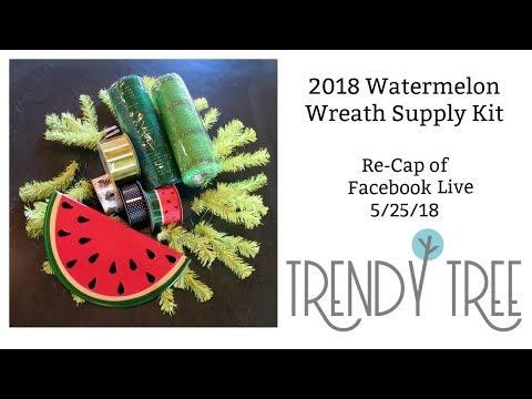 2018 Watermelon Wreath Supply Kit - Trendy Tree