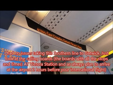 Getting to London Gatwick Airport CHEAP from Victoria Station