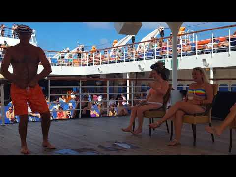 Hairy chest contest aboard the Carnival Ecstasy pt 2