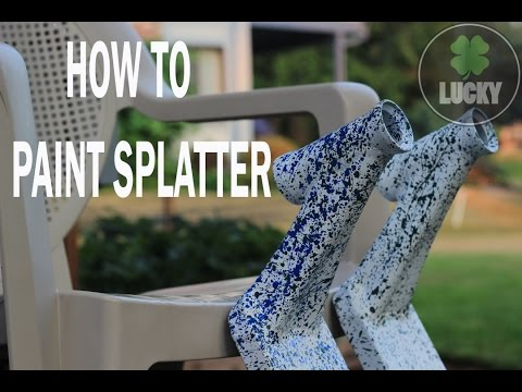Lucky Scooters | HOW TO PAINT SPLATTER