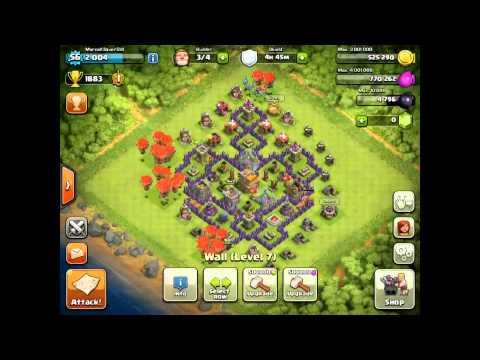 CLASH OF CLANS - BALLOON MINIONS ATTACK STRATEGY TH 7 TROPHY PUSHING