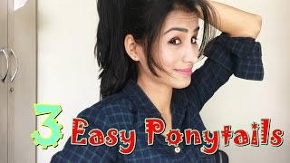 Three Easy Ponytails For College or School Girls