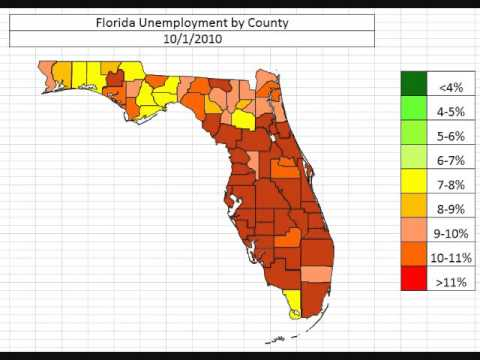 Florida Unemployment By County October 2013