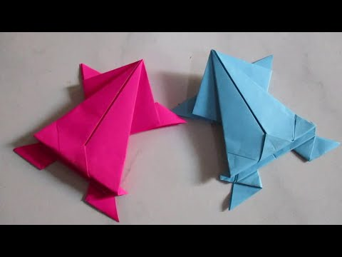 Paper Frog - How To Make A Paper Frog Easy Way That Jumps High and Far