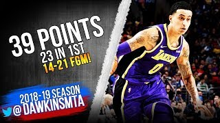 Kyle Kuzma Full Highlights 2019 02 10 Lakers vs 76ers   39 Pts 23 in 1st!  FreeDawkins