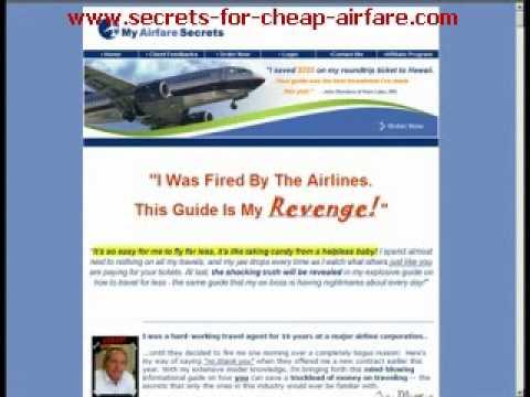 Cheap Airfare Secrets 1: Best way to get cheap airfare