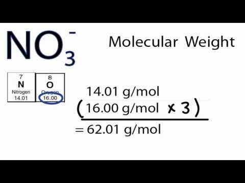 NO3- Molecular Weight: How to find the Molar Mass of NO3-
