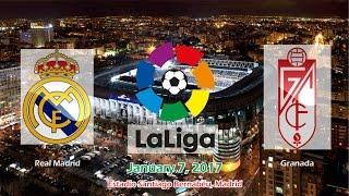 Real Madrid vs Granada 5-0 All Goals & Highlights 07/01/2017 | La Liga Santander 2016/2017