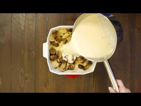 Cheesy Mushroom Potato Casserole