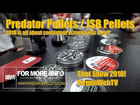 Predator Pellets at Shot Show 2018 - Predator Pellets and JSB double down on Accuracy for 2018!