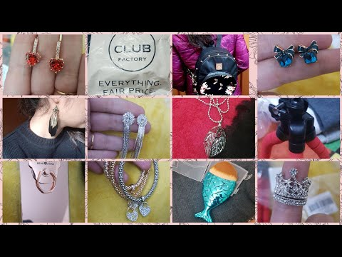 ✔ Club Factory Haul / Cheapest Prices ever / coupon code for discount  141307e3f/ JEWELLERY HAUL